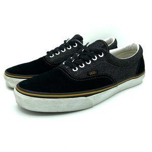 Vans Era Black Suede Denim Size 12 Mens
